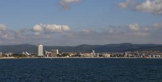 Solig strand, Bulgarien Arkivbilder