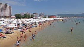 Solig strand, Bulgarien Royaltyfri Bild
