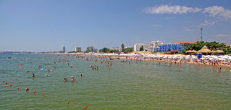 Solig strand, Bulgarien Royaltyfri Foto
