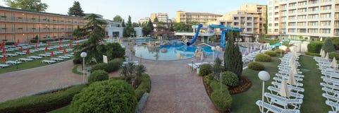 SOLIG STRAND, BULGARIEN - JUNI 15, 2016: chic hotellTrakia Plaza w Royaltyfri Fotografi