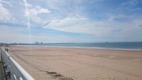solig stranddag Royaltyfri Fotografi