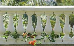 solig terrass för balkong Arkivbild