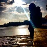 Solig vinter i Sverige Fotografering för Bildbyråer
