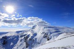Solig vinterdag Arkivbilder