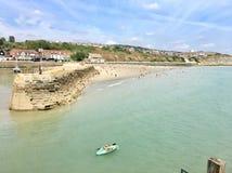 Soliga sander, Folkestone Arkivfoto