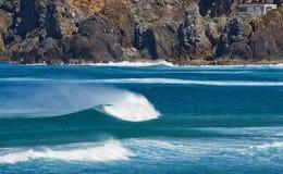 soliga waves Arkivbilder