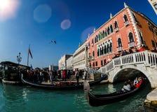Soligt i Venedig Royaltyfria Foton