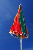 soligt paraply för strand Royaltyfria Foton