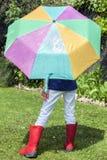soligt regn Royaltyfria Foton
