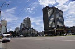 Soligt väder i Kiev Arkivbilder