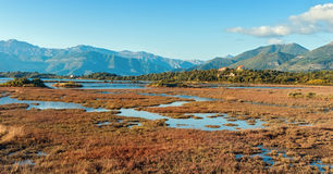 Solila, special nature reserve. Montenegro. Solila Special Nature Reserve is home to nesting and wintering for thousands of birds Stock Photography
