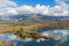 Solila special naturreserv. Montenegro Arkivfoto