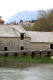 Solin, Croatia. Traditional 17th-century watermill called `Gaspina mlinica` on river Jadro in Solin, Croatia. Architectural detail Royalty Free Stock Photography