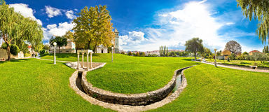 Solin park and church panoramic view Royalty Free Stock Photography