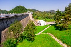 Solina dam. A solina dam. Solina lake on at ieszczady mountains royalty free stock image