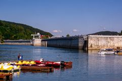 Solina dam. A solina dam. Solina lake on at ieszczady mountains stock photo