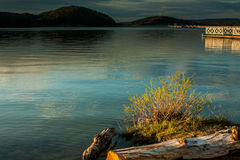 Solina lake in Bieszczady mountains Stock Images