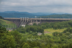 Solina, Poland -18 July 2016: The dam on the San River in Poland Royalty Free Stock Image