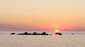 Solinbrott havet Nära visby Gotland, Sverige lager videofilmer