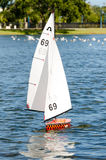 Soling RC Sailboat Royalty Free Stock Photo