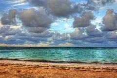 Solinställning på havet Arkivfoton
