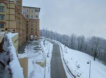 Solis索契旅馆上部高尔基Gorod -全季节度假村960海拔米 图库摄影