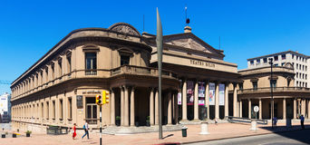 Solis Theater in Montevideo. MONTEVIDEO, URUGUAY – FEBURARY 19, 2017:  Historical building of Solis Theater in city center. Montevideo, Uruguay Royalty Free Stock Photos