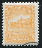 Solis Theater. URUGUAY - CIRCA 1953: stamp printed by Uruguay, shows Solis Theater, circa 1953 Royalty Free Stock Image