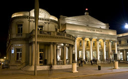 Solis Theatre - Montevideo. Solis Theatre, the oldest theatre and the most important culture center of the Uruguay, at Plaza Independencia, Montevideo Stock Image