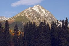 Solisko peak Royalty Free Stock Images