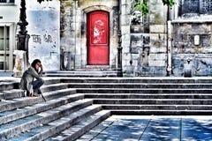 Solitário em Paris Fotos de Stock Royalty Free