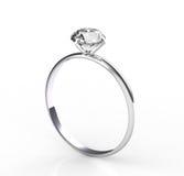 Solitaire diamond Stock Photo