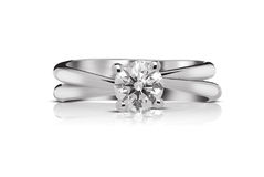 Solitaire diamond ring Stock Image