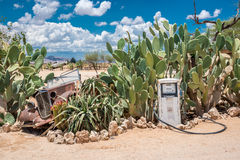 Solitaire in Namibia. Solitaire - cult petrol station in the middle of the namibian desert Stock Image