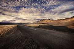 Solitaire road. Solitaire road in Iceland at dawn Stock Photos