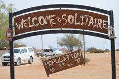 Solitario Namibia imagen de archivo