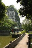 Solitary Beauty Peak in Guilin, China Royalty Free Stock Images