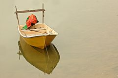 Solitary boat Stock Photo