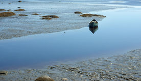 Solitary canoe Royalty Free Stock Images