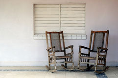 Solitary chairs in Varadero Royalty Free Stock Image