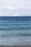 Solitary cruise ship in the ocean Royalty Free Stock Images