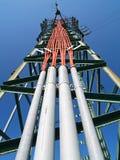Solitary Electricity Pylon Stock Photo
