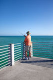 Solitary Fisherman Royalty Free Stock Photography
