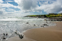 Solitary House at Beach and Coast in Ireland Stock Images