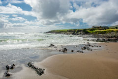 Solitary House at Beach and Coast in Ireland Royalty Free Stock Images