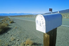 Solitary mailbox Royalty Free Stock Images