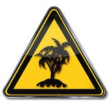 Solitary palm island Stock Photo