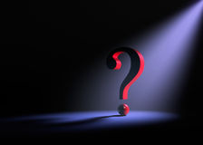 Solitary Question Royalty Free Stock Photography