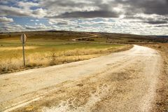 Solitary Road Stock Image