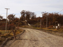 Solitary road. Solitary road in Tolhuin, Argentina Royalty Free Stock Photo